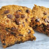 Healthy Pumpkin Blondies