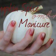 Pumpkin Spice Ombre Manicure