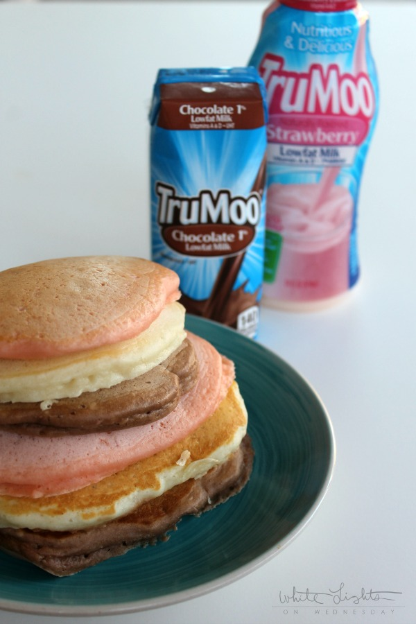 Neapolitan Pancakes  | White Lights on Wednesday #TruMoo #ad