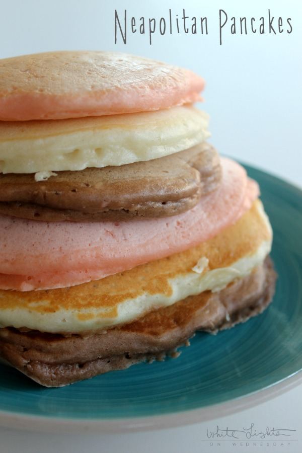 Neapolitan Pancakes  | White Lights on Wednesday #TruMoo #ad
