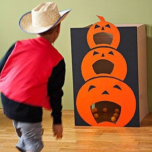 Pumpkin Bean Bag Toss