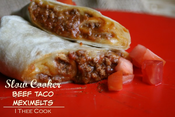 Slow Cooker Beef Taco Meximelts | White Lights on Wednesday
