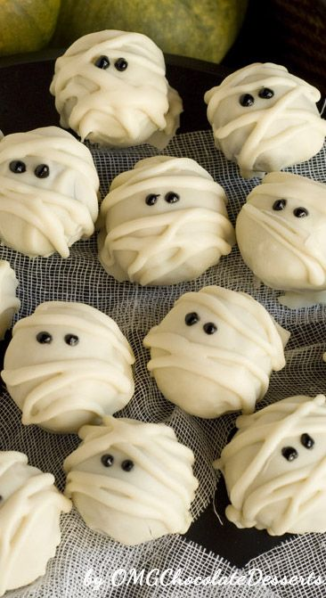 White Chocolate Mummy Truffles