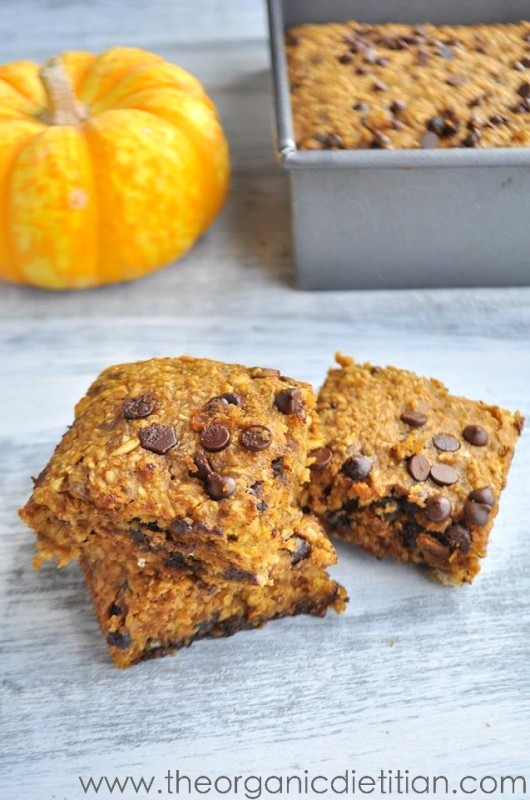 Healthy Pumpkin Blondies | White Lights on Wednesday