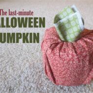 Last-Minute Halloween Pumpkin
