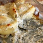 Cheesy Chicken Stuffed Shells with Pesto Sauce
