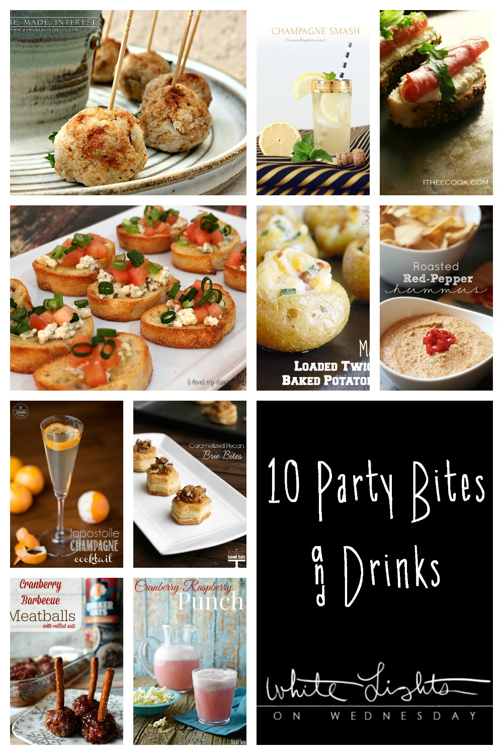 10 Party Bites and Drinks | White Lights on Wednesday