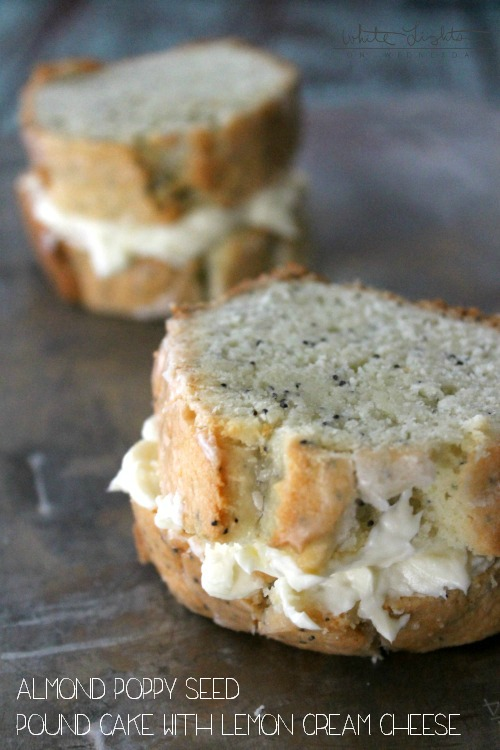Almond-Poppy Seed Pound Cake with Lemon Cream Cheese