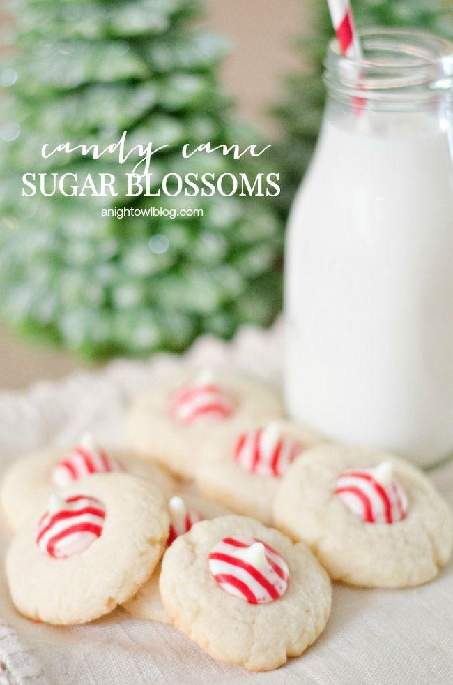 Candy Cane Sugar Blossoms