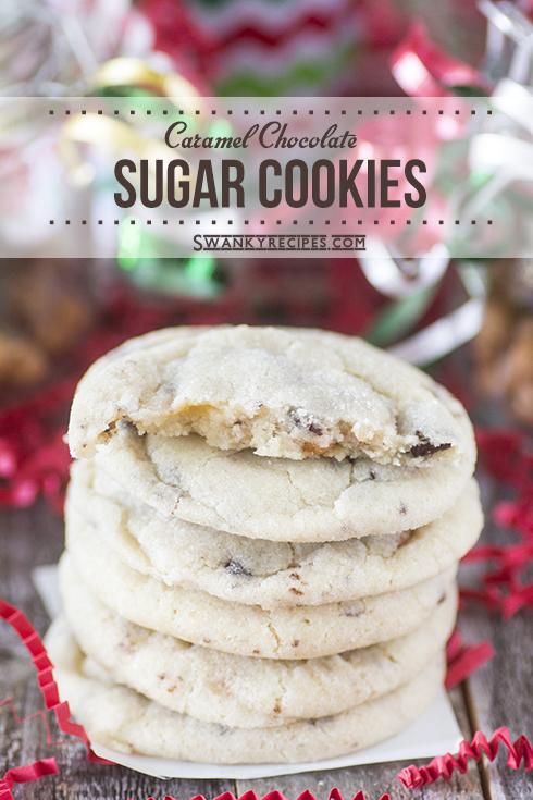 Caramel Chocolate Sugar Cookies