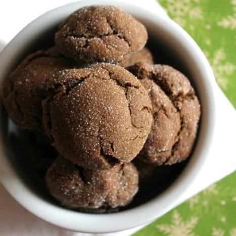 Chocolate Triple Ginger Snap Cookies