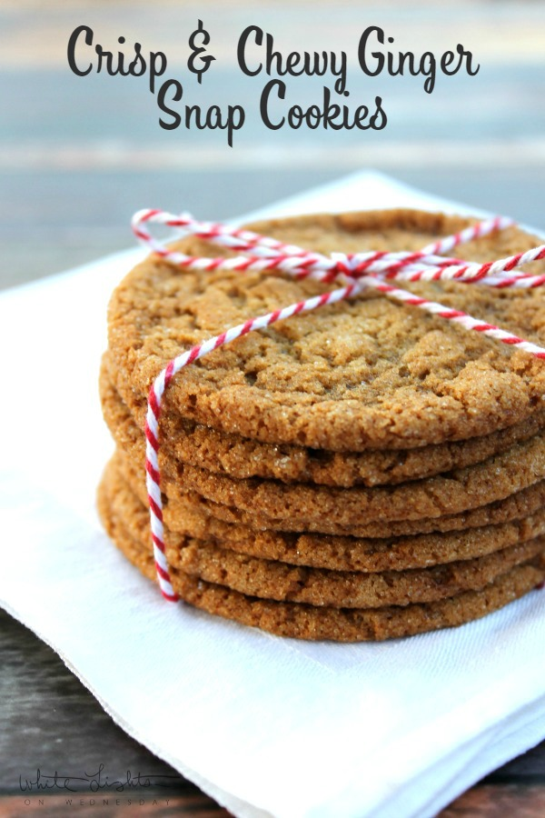 Crisp and Chewy Ginger Snap Cookies | White Lights on Wednesday