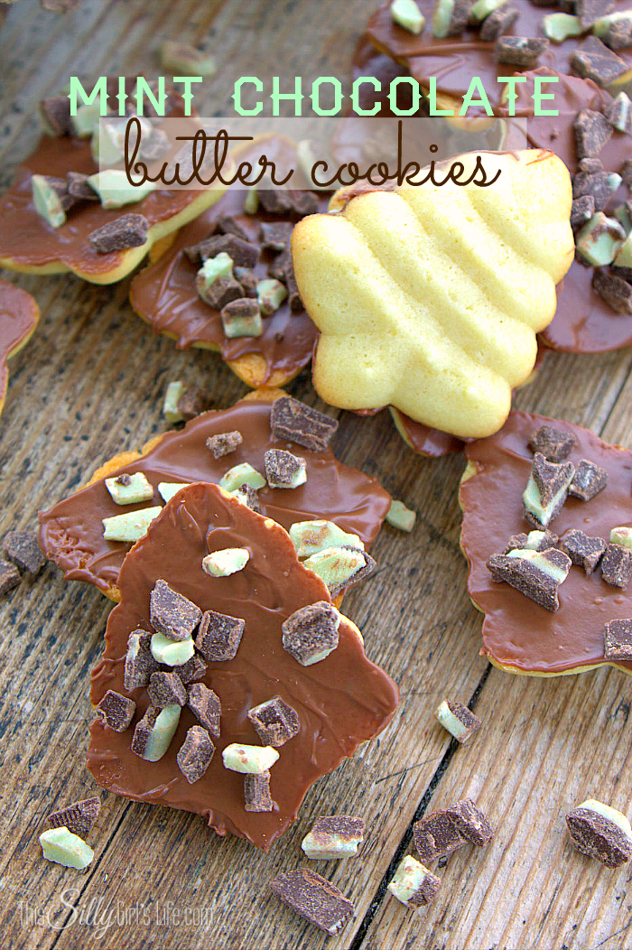 Mint Chocolate Butter Cookies