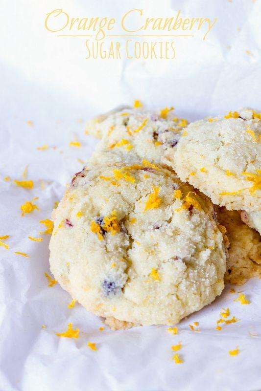 Orange Cranberry Sugar Cookies