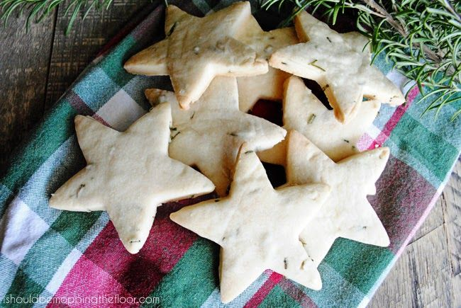 Rosemary Shortbread Stars