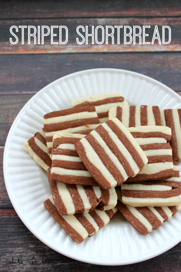 Striped Shortbread | White Lights on Wednesday