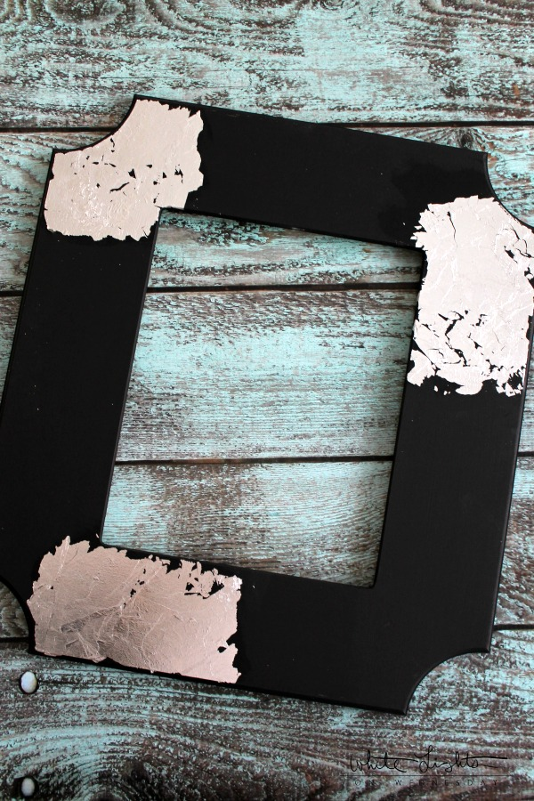 DIY Silver Leaf Frame | White Lights on Wednesday