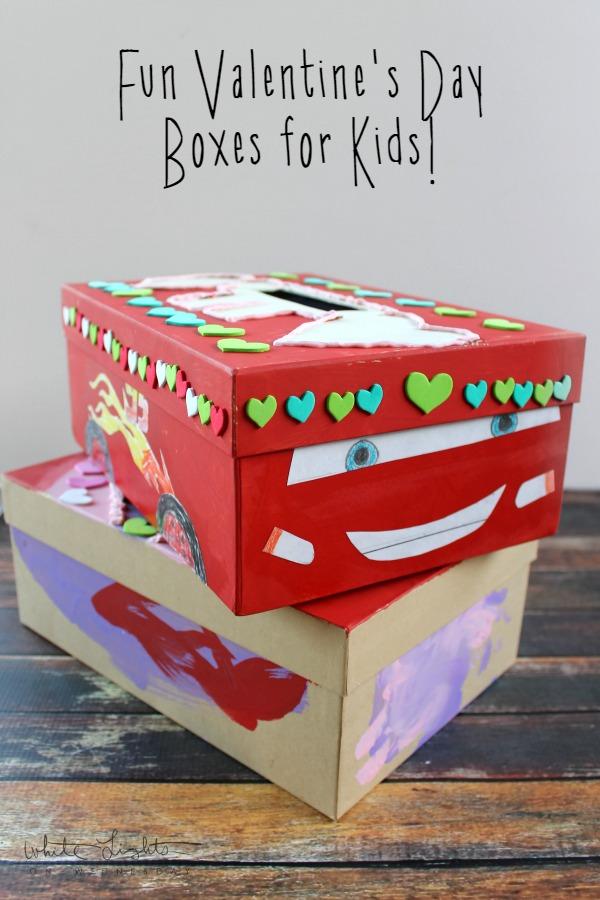 Fun valentine 39 s day boxes for kids white lights on - Valentines day boxes for kids ...