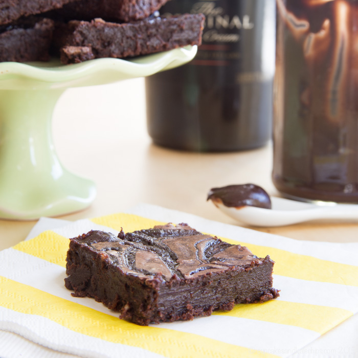 Flourless Baileys Fudge Swirl Brownies