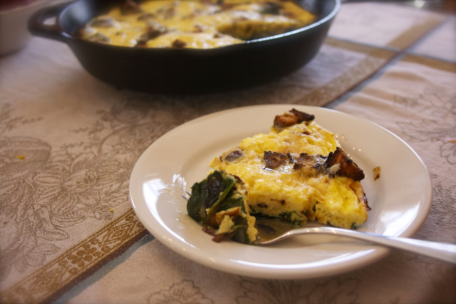 Strata Spinach Lorraine- FG-simplelivingeating.com