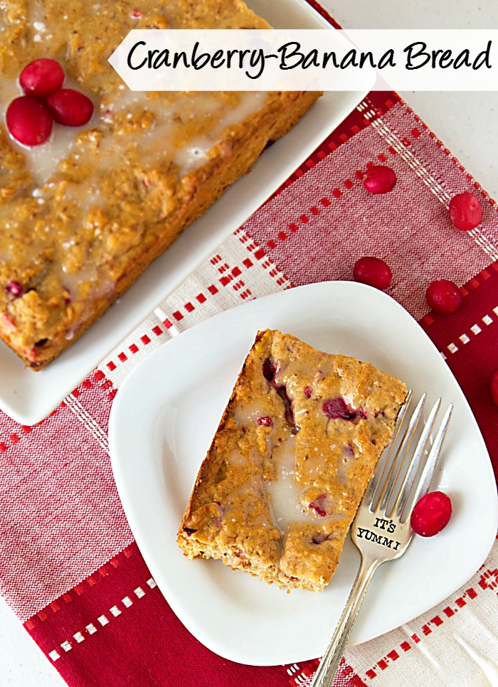 Cranberry Banana Bread | It's Yummi for White Lights on Wednesday