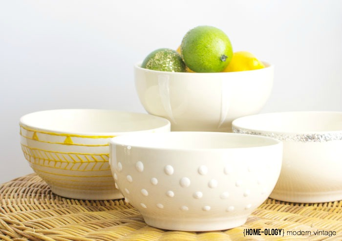DIY Decorated Bowls