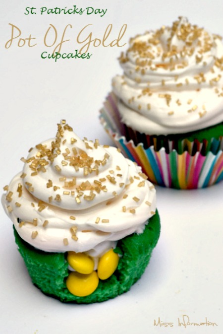 Pot of Gold Cupcakes | Miss Information for White Lights on Wednesday
