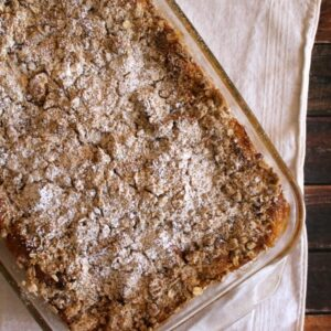 Bananas Foster Bread Pudding | White Lights on Wednesday