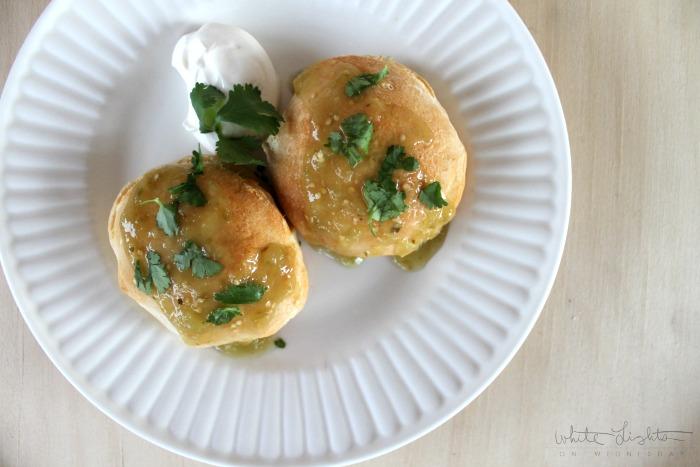 Salsa Verde Pork Pockets | White Lights on Wednesday