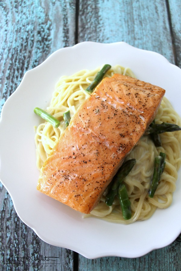 Salmon with Angel Hair