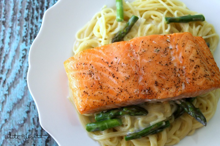 Salmon with Angel Hair | White Lights on Wednesday