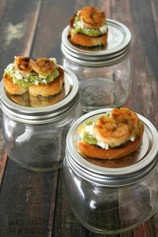 Shrimp & Guacamole Bruschetta | White Lights on Wednesday