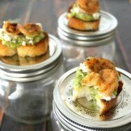 Shrimp & Guacamole Bruschetta