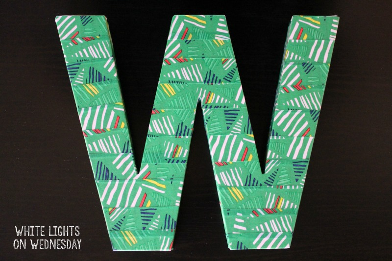 Washi Tape Monogram Letter Teacher Gift Idea | White Lights on Wednesday