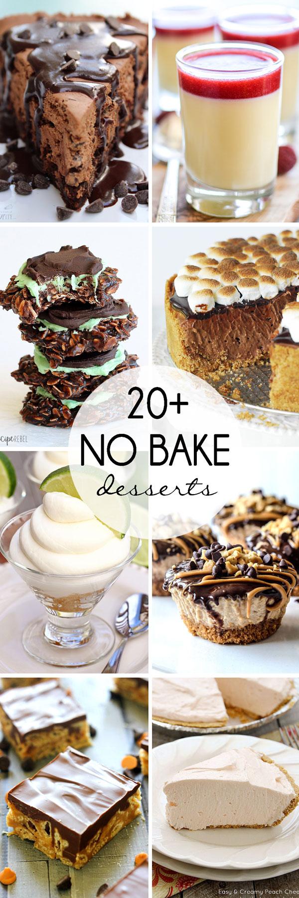 20+ No Bake Desserts | White Lights on Wednesday