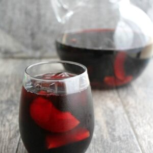 This Blackberry Plum Sangria has a gorgeous red color and deep fruit flavors. This cocktail for a crowd is perfect for parties and night's in alike!