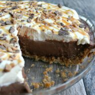 Caramel Toffee Crunch Chocolate Pie