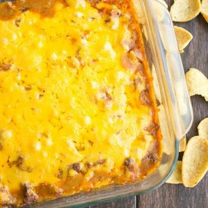 Our 4-ingredient, ooey, gooey Chili Cheese Dog Dip is sure to be the hit of your game day get together! #HormelChiliNation [AD]