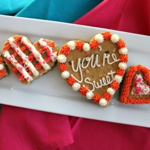 Valentine's Day Cookie Cake Hearts 6