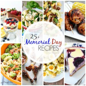 Planning a barbecue for Memorial Day weekend? Then we've got you covered with these 25+ Recipes for Your Memorial Day Cookout! You'll find everything from appetizers to desserts to keep your crowd happy and satisfied!