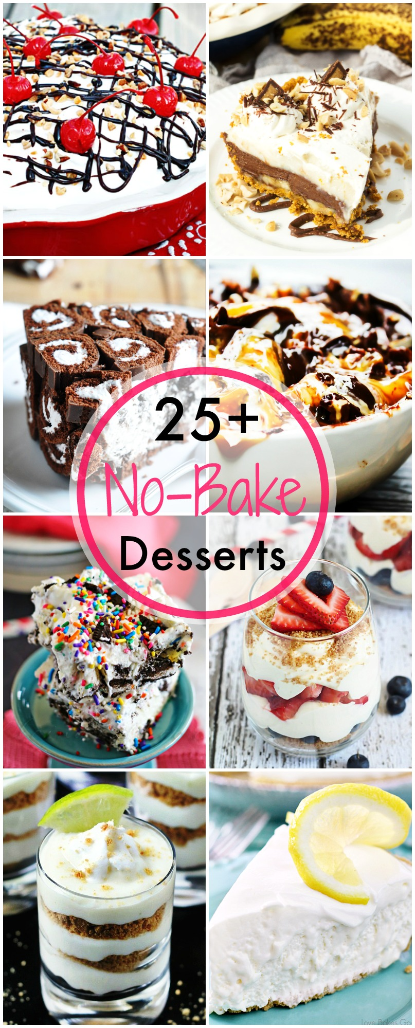 These 25+ NO BAKE DESSERTS FOR SUMMER are a great way to get your sweet tooth fix without having to turn on the oven!