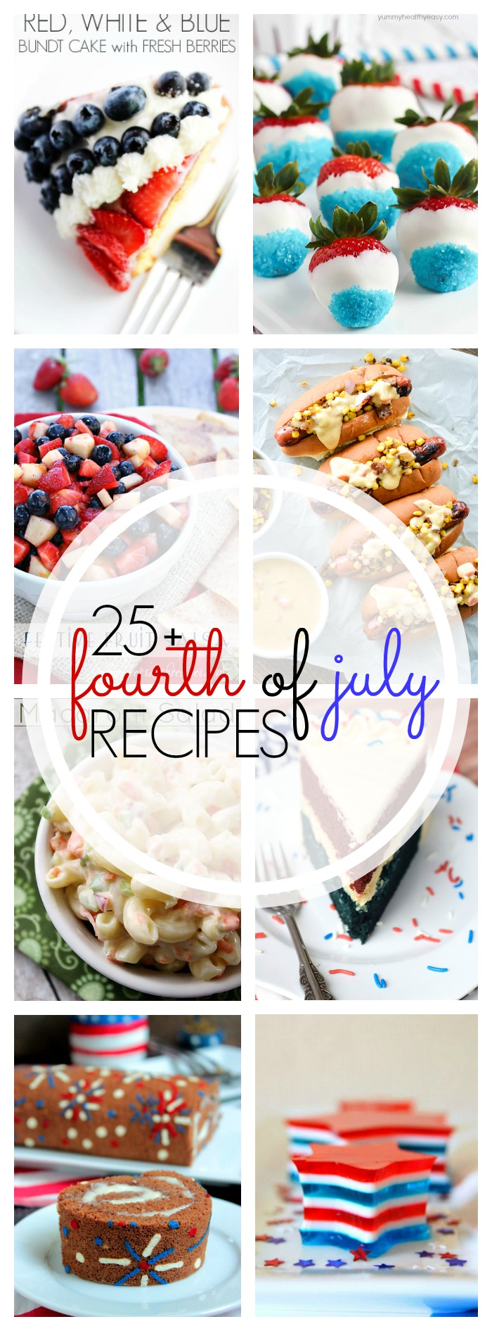 These 25+ 4th of July Party Recipes are sure to make your holiday extra special! Whether you're looking for a delicious main dish or a fantastically fun red, white & blue dessert, we've got you covered!