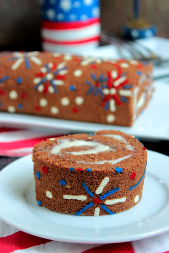 4th Of July Fireworks Cake Roll - Big Bears Wife