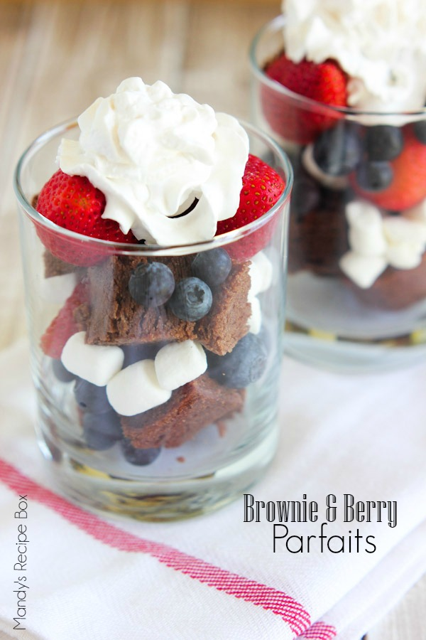 Brownie & Berry Parfaits - Mandy's Recipe Box