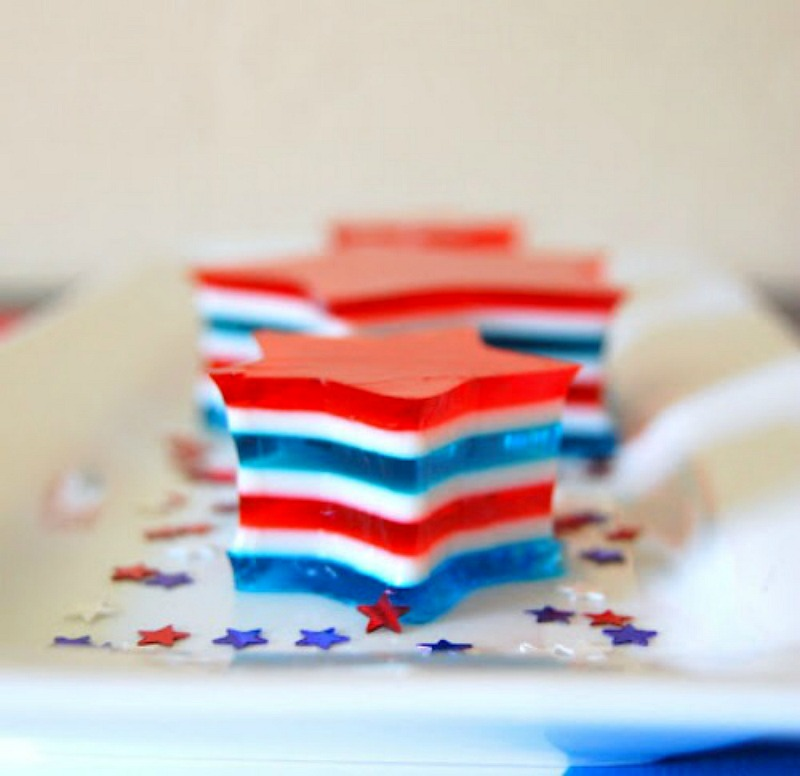 Patriotic Jell-O Stars - 365 Days of Baking
