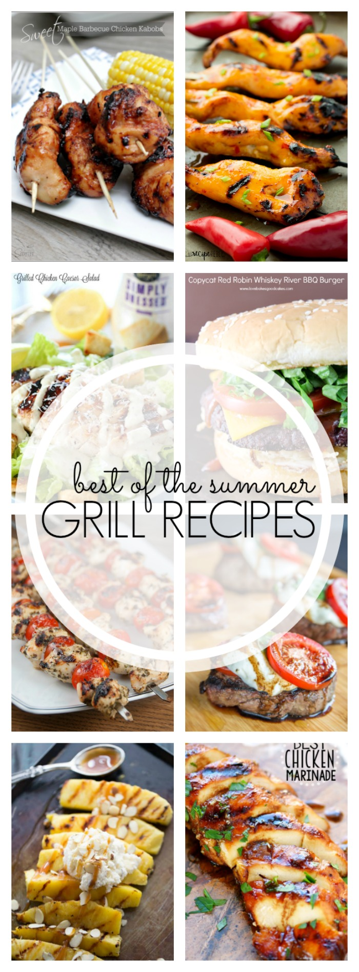 I've been a grilling fool this year. I've been making everything from pizzas to chicken & grapes on our little stove top Weber grill! Now it's time to light those coals or crank the propane and treat yourself to 25 of the Best Grilling Recipes for Summer!