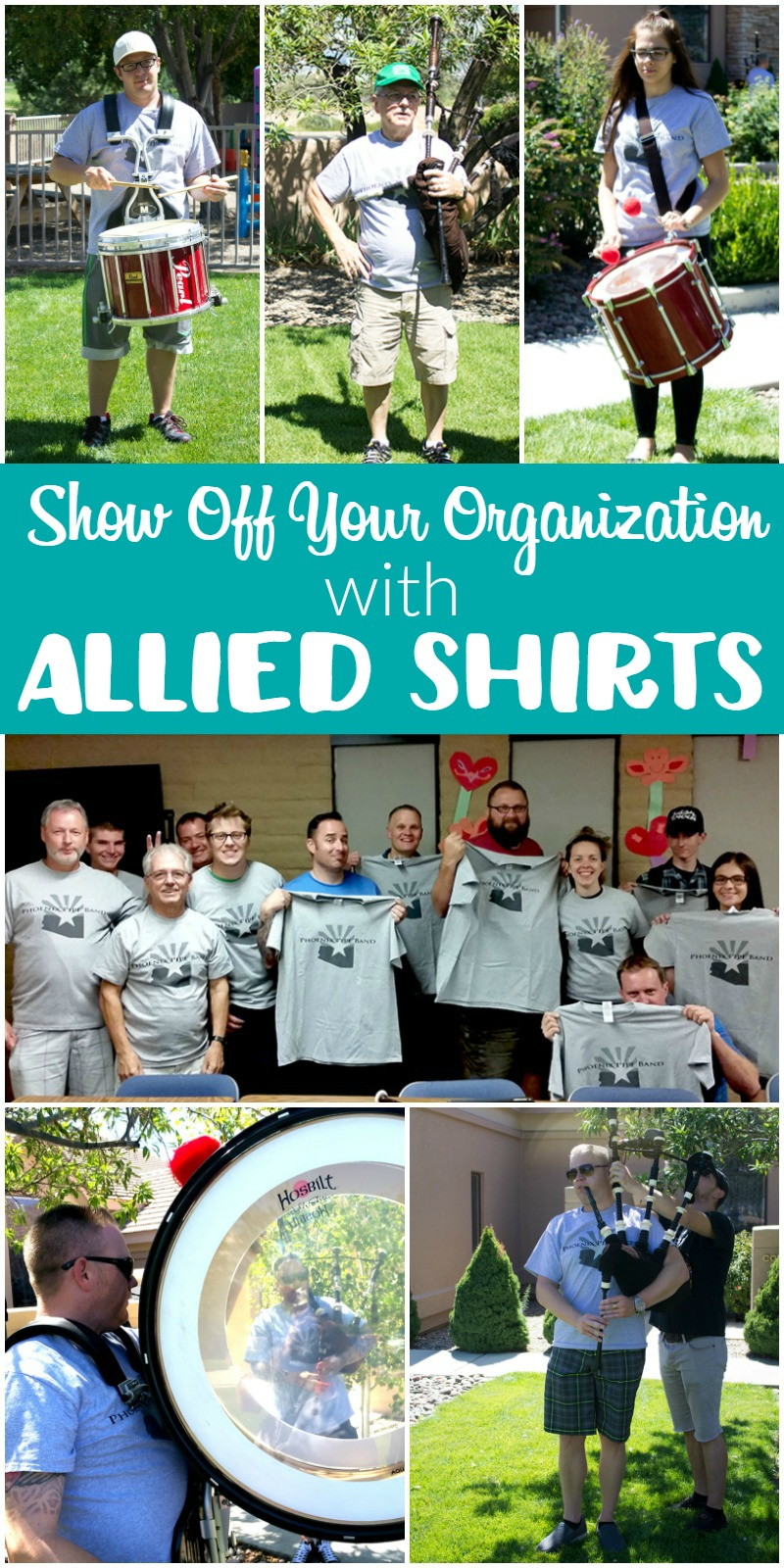 Show Off Your Organization with Allied Shirts! | White Lights on Wenesday #ad