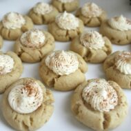 Eggnog Thumbprint Cookies