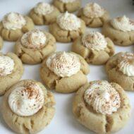 Eggnog Thumbprint Cookies