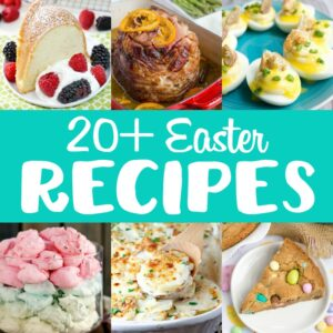 Every-bunny will love these 20+ Easter Recipes! You'll find desserts for everyone young and old along with delicious dishes from breakfast to your holiday dinner!